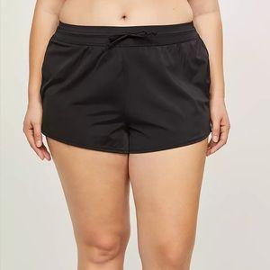 Lane Bryant cacique black swim shorts